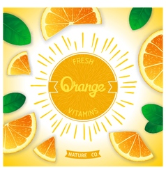 Fresh orange vitamins vector
