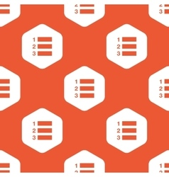 Orange hexagon numbered list pattern vector