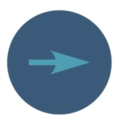 Arrow axis x flat cyan and blue colors round vector