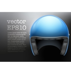 Blue motorcycle helmet vector