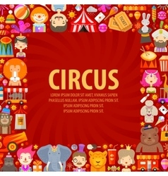 Circus logo design template clown artist vector