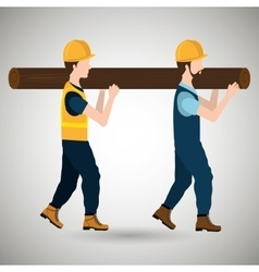 Professional construction design vector
