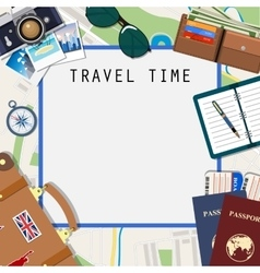Travel and adventure template vector