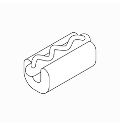 Hot dog icon isometric 3d style vector