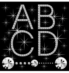 diamond letters vector image