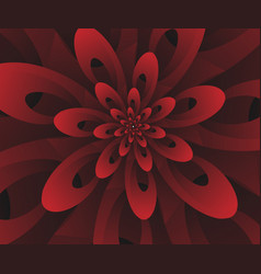 Abstract digital modern red floral design vector