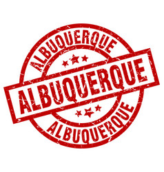 Albuquerque red round grunge stamp vector