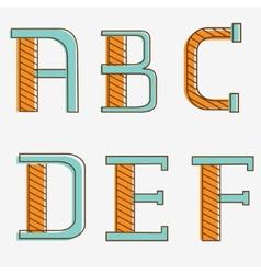 Alphabet letters a b c d e f vector