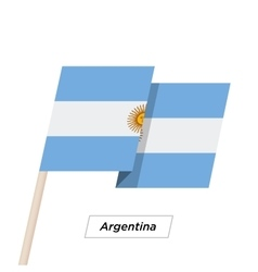 Argentina ribbon waving flag isolated on white vector