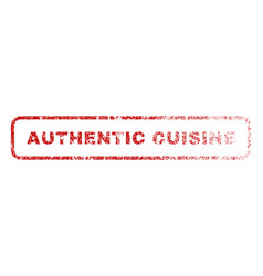 Authentic cuisine rubber stamp vector