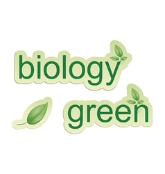 biology signs vector image vector image