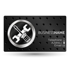 Business card for repair vector