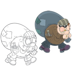 Cat-burglar vector