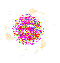 Creative template for indian festival happy holi vector