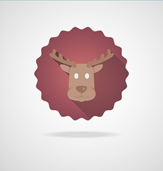 Deer Head Icon on white Background vector image
