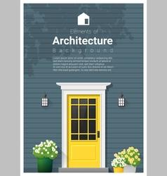 Elements of architecture front door background 12 vector image vector image