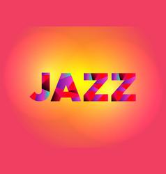 Jazz theme word art vector