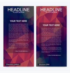 Leaflet flyer layout magazine cover corporate vector