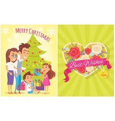 merry christmas best wishes vector image