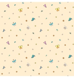 Multicolored butterflies on pale pink background vector image