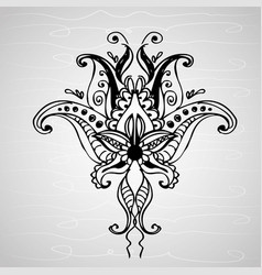 Paisley ornament hand drawing vector