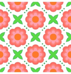 Pattern with bold stylized flowers in 1970s style vector image vector image