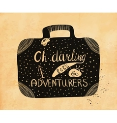 Poster about travel and adventure in retro style vector image vector image