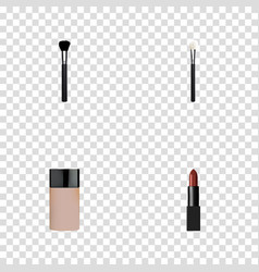 Realistic concealer fashion equipment powder vector