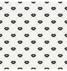 Romantic hipster lips kiss seamless pattern vector