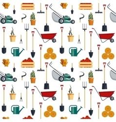 Seamless pattern farm tools flat- vector image vector image