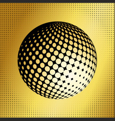 Set abstract halftone 3d spheres 37 vector