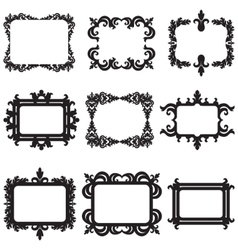 set of decorative horizontal elements border and vector image vector image