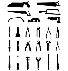 Silhouettes of tools vector