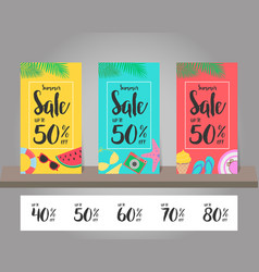 summer sale background for template design vector image