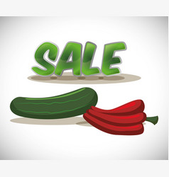 Vegetables fresh sale food healthy vector