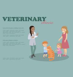 Vet clinic the doctor prescribes a prescription vector
