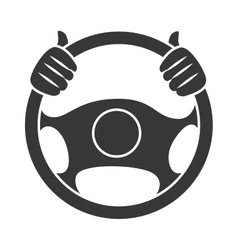 Car steering wheel icon vector