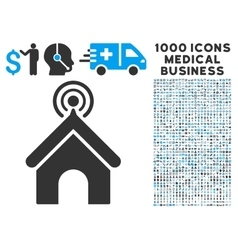 Telecom Office Icon with 1000 Medical Business vector image