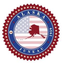 Label sticker cards of State Alaska USA vector image