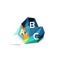 colorful abstract low poly infographic vector image