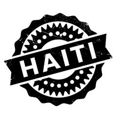 Haiti stamp rubber grunge vector image