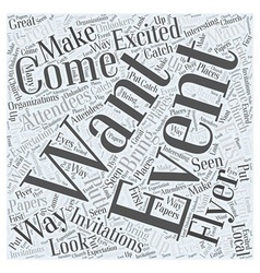 Ways to get attendees to your events word cloud vector