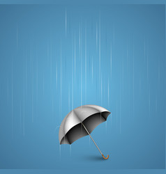 umbrella with heavy rain vector image