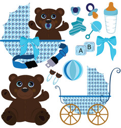 Baby boy stuff vector