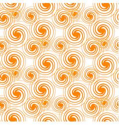 Seamless pattern orange swirls isolated on white vector