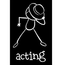 An actor vector image