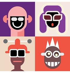 four portraits vector image