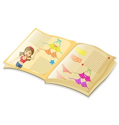 Book and bikini vector image
