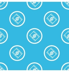 3d movie sign blue pattern vector