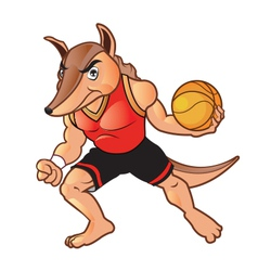 Basket ball armadillo vector